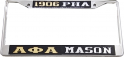 View Buying Options For The Alpha Phi Alpha + Mason PHA Split License Plate Frame