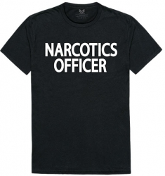 View Buying Options For The RapDom Narcotics Officer Text Graphic Relaxed Mens Tee
