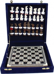 View Buying Options For The Egyptian Mother of Pearl Chess Set