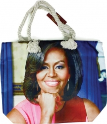 View Buying Options For The Michelle Obama Portrait Tote Bag