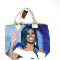 View Buying Options For The Michelle Obama Waving Tote Bag