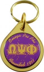 View Buying Options For The Omega Psi Phi Small Tear Drop Domed Mirror Keychain