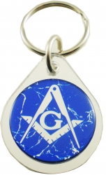 View Buying Options For The Mason Symbol Domed Mirror Keychain