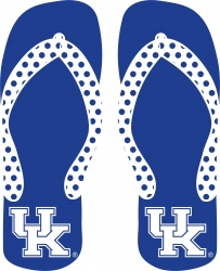 View Buying Options For The University of Kentucky Flip Flops UK Logo Decal Sticker