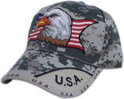 View Buying Options For The US Honor American Eagle Digital Pixel Patriotic Mens Hat