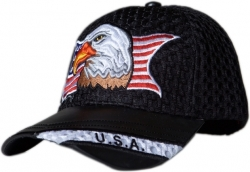 View Buying Options For The US Honor American Eagle Patriotic Air Flow Mesh Shadow Vinyl Bill Mens Hat