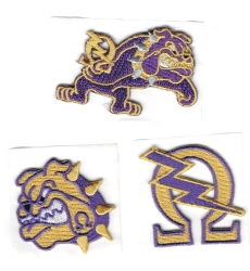 View Buying Options For The Omega Psi Phi 3-Pack B Embroidered Stick-On Applique Patches