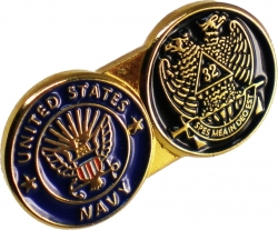 View Buying Options For The US Navy + Scottish Rite Double Duty Lapel Pin
