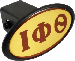 View Buying Options For The Iota Phi Theta Domed Mirror Trailer Hitch Cover
