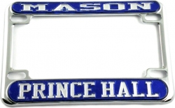 View Buying Options For The Mason Prince Hall Motorcycle License Plate Frame