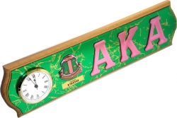 View Buying Options For The Alpha Kappa Alpha Domed Letters Wood Plaque Wall Clock