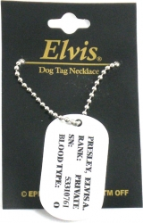 View Buying Options For The Elvis Presley US Army Military Dog Tag Necklace