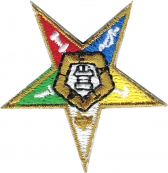 View Buying Options For The Eastern Star Emblem Iron-On Patch