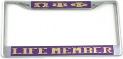 View Buying Options For The Omega Psi Phi Life Member License Plate Frame