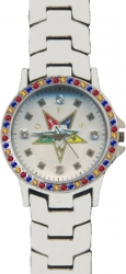 View Buying Options For The Eastern Star Symbol Austrian Crystal Ladies Watch