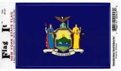 View Buying Options For The New York State Flag Car Decal Sticker [Pre-Pack]