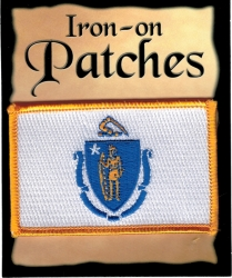 View Buying Options For The Massachusetts State Flag Iron-On Patch [Pre-Pack]