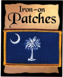 View Buying Options For The South Carolina State Flag Iron-On Patch [Pre-Pack]