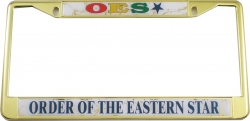 View Buying Options For The Eastern Star Domed License Plate Frame