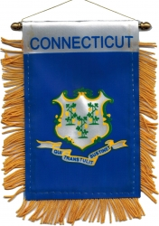 View Buying Options For The Connecticut State Flag Car Mini Banner