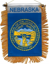 View Buying Options For The Nebraska State Flag Car Mini Banner [Pre-Pack]