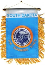 View Buying Options For The South Dakota State Flag Car Mini Banner