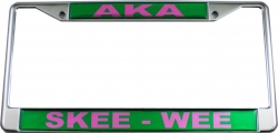 View Buying Options For The Alpha Kappa Alpha Skee-Wee Call License Plate Frame