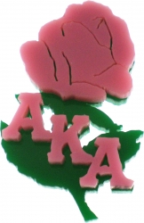 View Buying Options For The Alpha Kappa Alpha Rose Flower Symbol Lapel Pin