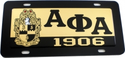 View Buying Options For The Alpha Phi Alpha Domed Shield Mirror Car Tag License Plate