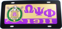 View Buying Options For The Omega Psi Phi Domed Shield Mirror Car Tag License Plate