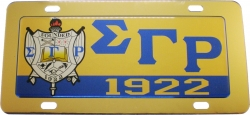 View Buying Options For The Sigma Gamma Rho Domed Crest Mirror Car Tag License Plate