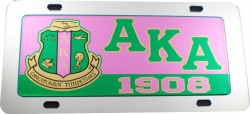 View Buying Options For The Alpha Kappa Alpha Domed Crest Mirror Car Tag License Plate