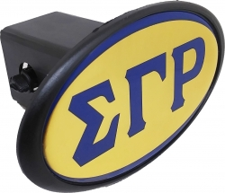 View Buying Options For The Sigma Gamma Rho Mirror Domed Trailer Hitch Cover