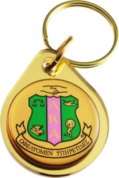 View Buying Options For The Alpha Kappa Alpha Domed Crest Mirror Keychain