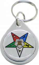 View Buying Options For The Eastern Star Domed Shield Crest Keychain