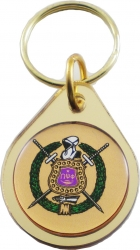 View Buying Options For The Omega Psi Phi Domed Escutcheon Shield Keychain