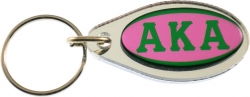 View Buying Options For The Alpha Kappa Alpha Large Tear Drop Domed Mirror Keychain