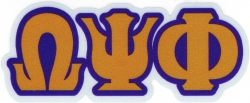 View Buying Options For The Omega Psi Phi Reflective Decal Sticker