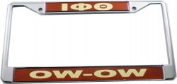 View Buying Options For The Iota Phi Theta Domed Ow-Ow Call License Plate Frame
