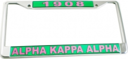 View Buying Options For The Alpha Kappa Alpha 1908 Domed License Plate Frame