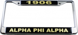 View Buying Options For The Alpha Phi Alpha 1906 Domed License Plate Frame