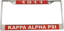 View Buying Options For The Kappa Alpha Psi 1911 Domed License Plate Frame