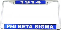 View Buying Options For The Phi Beta Sigma 1914 Domed License Plate Frame