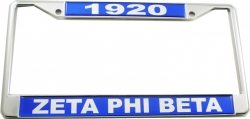 View Buying Options For The Zeta Phi Beta 1920 Domed License Plate Frame