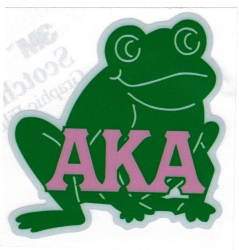 View Buying Options For The Alpha Kappa Alpha Frog Reflective Symbol Decal Sticker