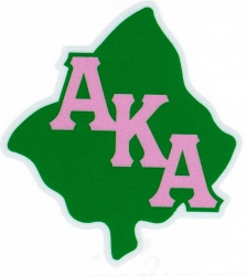 View Buying Options For The Alpha Kappa Alpha Leaf Symbol Reflective Decal Sticker
