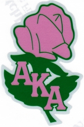 View Buying Options For The Alpha Kappa Alpha Rose Flower Reflective Symbol Decal Sticker