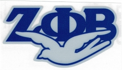 View Buying Options For The Zeta Phi Beta Dove Reflective Symbol Decal Sticker