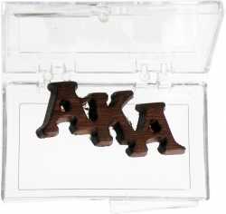 View Buying Options For The Alpha Kappa Alpha Small Wood Lapel Pin