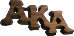 View Buying Options For The Alpha Kappa Alpha Large Letter Wood Pin